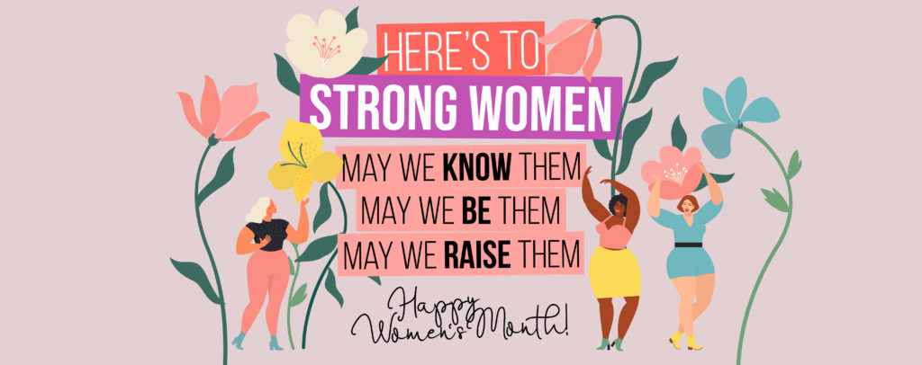 Women's Month Website Banner